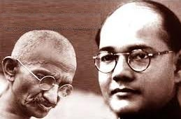 Gandhi And Subhash Bose At Loggerheads